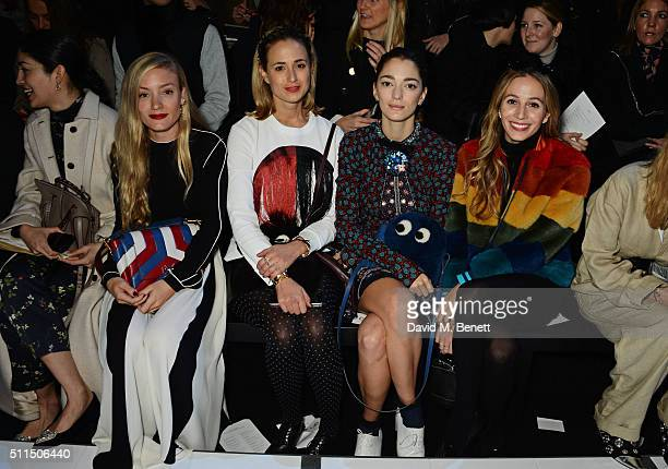 Caroline Issa Kate Foley Elisabeth von Thurn und Taxis Sofia Sanchez de Betak and Harley Viera Newton attend the Anya Hindmarch AW16 show on February...