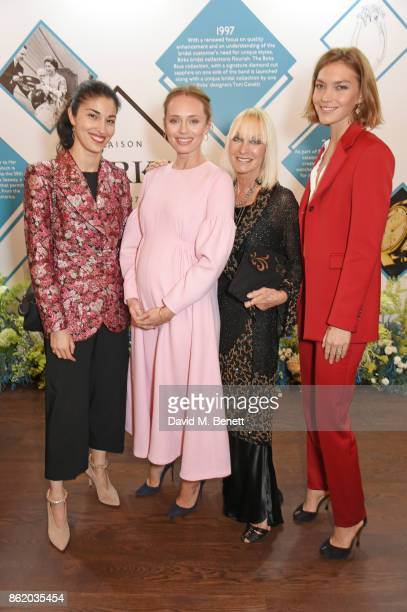 Caroline Issa Laura Haddock Virginia Bates and Arizona Muse attend the UK launch of Birks Jewellery at Canada House Trafalgar Square on October 16...