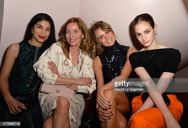 Caroline Issa Lucie de la Falaise Cressida Bonas and Laura Love attends the Dior Croisiere 2016 at Palais Bulle on May 11 2015 in Theoule sur Mer...