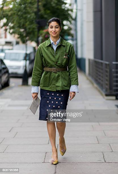 Caroline Issa outside during London Fashion Week Spring/Summer collections 2017 on September 19 2016 in London United Kingdom