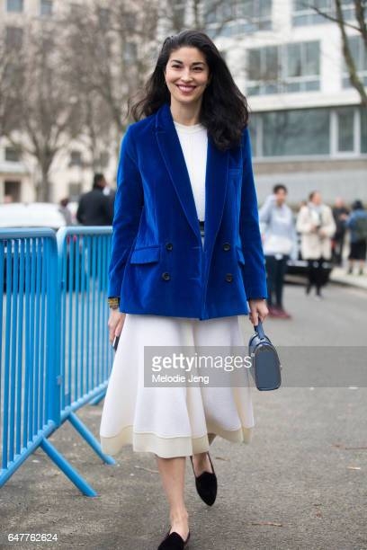 Caroline Issa outside the Loewe show on March 3 2017 in Paris France
