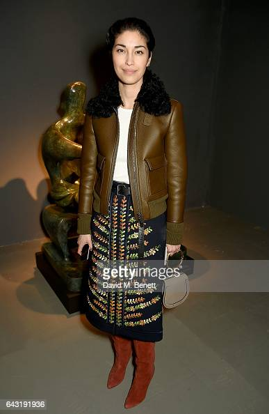 Caroline Issa wearing Burberry attends the Burberry February 2017 Show during London Fashion Week February 2017 at Makers House on February 20 2017...