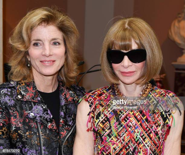 Caroline Kennedy and Anna Wintour attends 'Rei Kawakubo/Comme des Garcons Art Of The InBetween' Costume Institute Gala Press Preview at Metropolitan...
