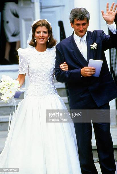 Caroline Kennedy and Edwin Schlossberg attends their wedding ceremony in the Church of Our Lady of Victory on July 19 1986 in Hyannis Port...