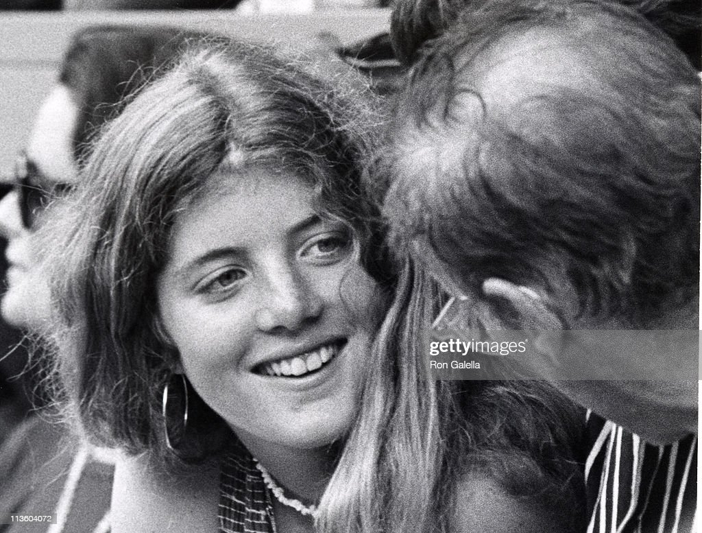 Caroline Kennedy and Lemoyne Billings during RFK Pro Celebrity Tennis Tournament at Forest Hills in New York City New York United States