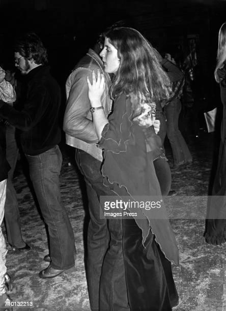 Caroline Kennedy and Tom Sullivan at Studio 54 circa 1978 in New York City