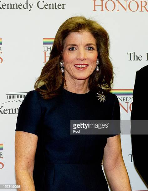 Caroline Kennedy arrives for a dinner for Kennedy honorees hosted by US Secretary of State Hillary Rodham Clinton at the US Department of State on...