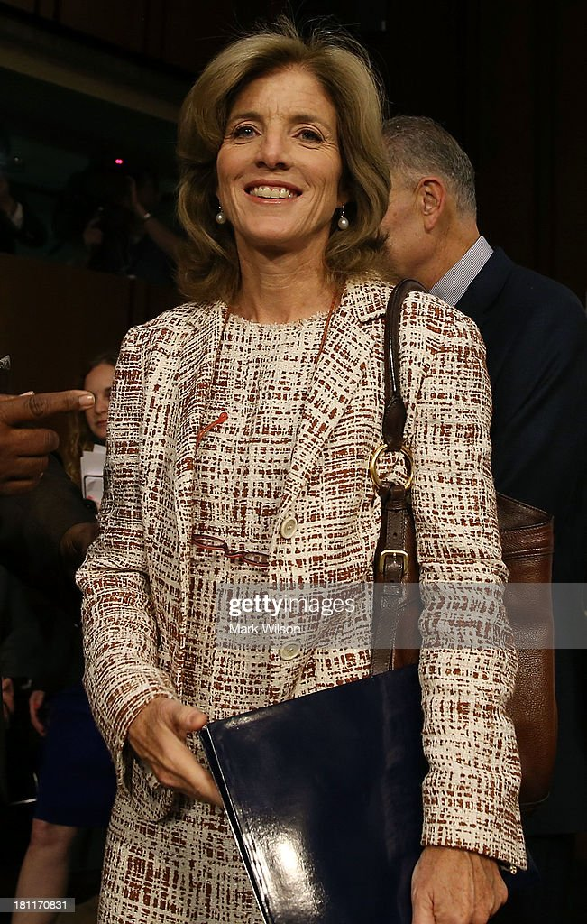 Caroline Kennedy arrives for her Senate Foreign Relations Committee confirmation hearing on Capitol Hill, September 19, 2013 in Washington, DC. If confirmed by the U.S. Senate Ms. Kennedy will become the first female U.S. Ambassador to Japan.