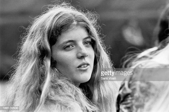 Caroline Kennedy at a tennis match on August 10 1974 in New York New York