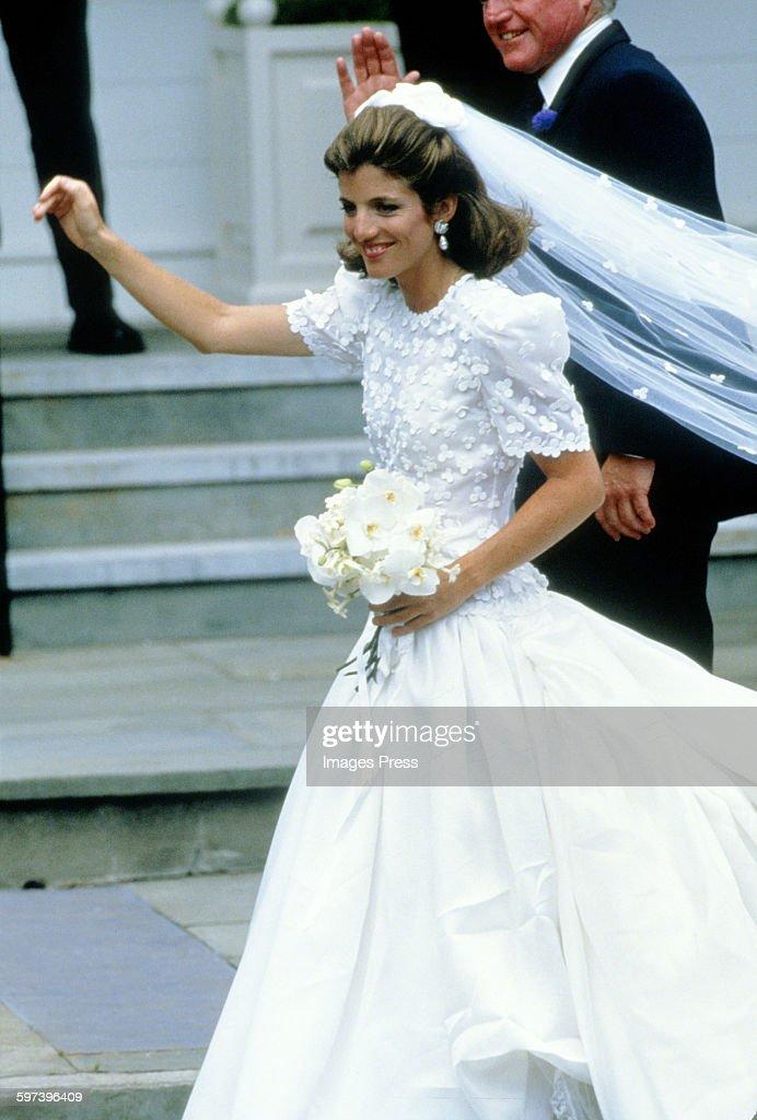 Caroline kennedy getty images for Tatiana schlossberg wedding dress