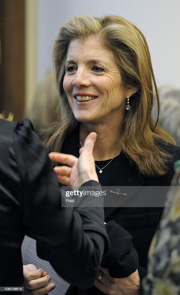 <a gi-track='captionPersonalityLinkClicked' href=/galleries/search?phrase=Caroline+Kennedy&family=editorial&specificpeople=93208 ng-click='$event.stopPropagation()'>Caroline Kennedy</a> attends the funeral service for Sargent Shriver at Our Lady of Mercy Catholic Church January 22, 2011 in Potomac, Maryland. Robert Sargent Shriver Jr., a politician and activist who was the first leader of the Peace Corps and was involved in other social programs, died this week at the age of 95.