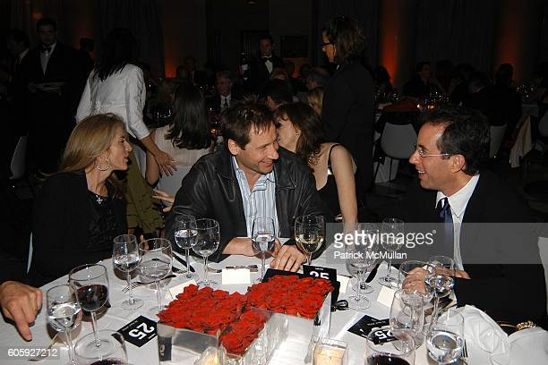 Caroline Kennedy David Duchovny Jane Rosenthal and Jerry Seinfeld attend VANITY FAIR Tribeca Film Festival Party hosted by Graydon Carter and Robert...