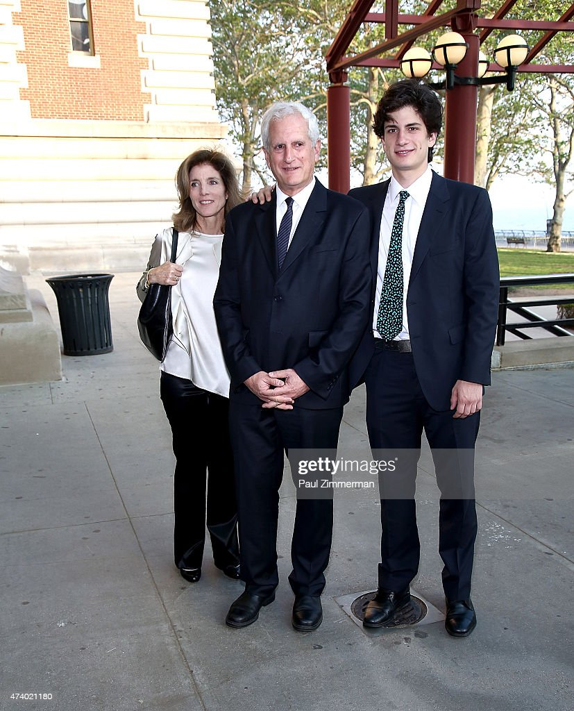 <a gi-track='captionPersonalityLinkClicked' href=/galleries/search?phrase=Caroline+Kennedy&family=editorial&specificpeople=93208 ng-click='$event.stopPropagation()'>Caroline Kennedy</a>, Edwin Schlossberg and John Schlossberg attend the 2015 Statue Of Liberty-Ellis Island Foundation's Gala in the Great Hall at Ellis Island National Museum of Immigration on May 19, 2015 in New York City.