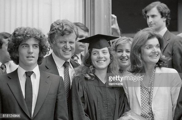Caroline Kennedy graduated from Radcliffe at a joint session during Harvard University's 329th Commencement here The family was there to offer...