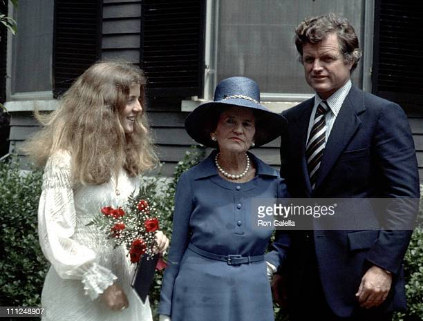 Caroline Kennedy Rose Kennedy and Ted Kennedy during Caroline Kennedy's Graduation From Concord Academy at Concord Academy in Concord Massachusetts...