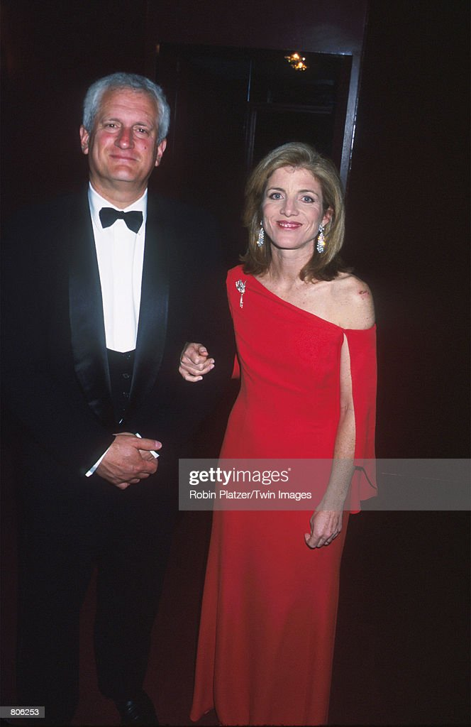 Caroline Kennedy Schlossberg and husband Ed Schlossberg attend the American Ballet Theatre gala benefit at Lincoln Center April 30, 2001 in New York City.