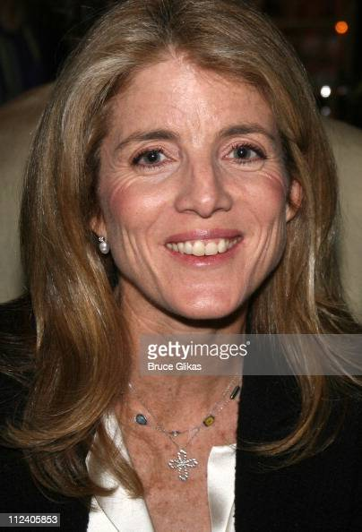 Caroline Kennedy Schlossberg during 'Rent' Celebrates 10th Anniversary on Broadway April 24 2006 at The Nederlander Theater in New York New York...