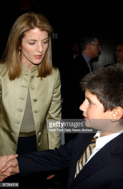Caroline Kennedy Schlossberg introduces son John at cocktail reception and book signing to celebrate the publication of her book 'Profiles In Courage...