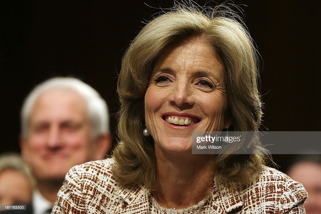 <a gi-track='captionPersonalityLinkClicked' href=/galleries/search?phrase=Caroline+Kennedy&family=editorial&specificpeople=93208 ng-click='$event.stopPropagation()'>Caroline Kennedy</a> smiles during her Senate Foreign Relations Committee confirmation hearing on Capitol Hill, September 19, 2013 in Washington, DC. If confirmed by the U.S. Senate Kennedy will become the first female U.S. Ambassador to Japan.
