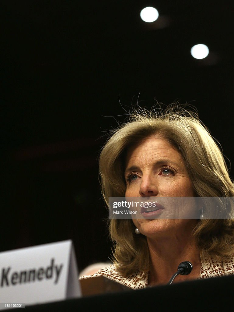 Caroline Kennedy speaks during her Senate Foreign Relations Committee confirmation hearing on Capitol Hill, September 19, 2013 in Washington, DC. If confirmed by the U.S. Senate Kennedy will become the first female U.S. Ambassador to Japan.