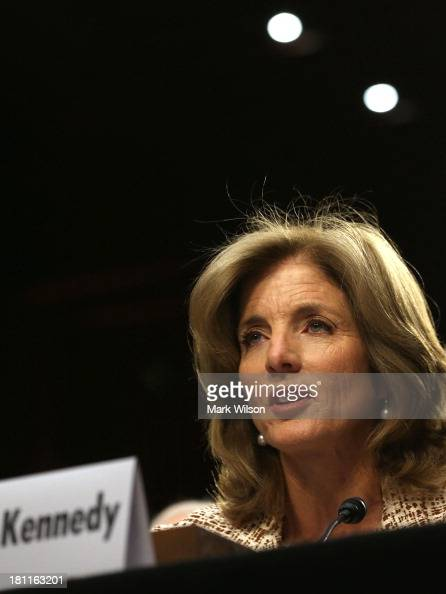 Caroline Kennedy speaks during her Senate Foreign Relations Committee confirmation hearing on Capitol Hill September 19 2013 in Washington DC If...