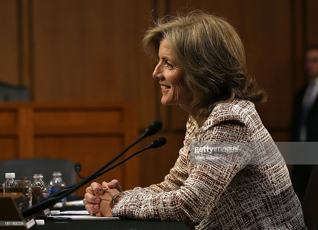<a gi-track='captionPersonalityLinkClicked' href=/galleries/search?phrase=Caroline+Kennedy&family=editorial&specificpeople=93208 ng-click='$event.stopPropagation()'>Caroline Kennedy</a> speaks during her Senate Foreign Relations Committee confirmation hearing on Capitol Hill, September 19, 2013 in Washington, DC. If confirmed by the U.S. Senate Kennedy will become the first female U.S. Ambassador to Japan.