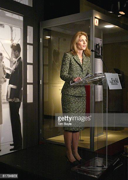 Caroline Kennedy talks with the media prior to a media preview for the exhibition Jacqueline Kennedy The White House Years Selections from the John F...
