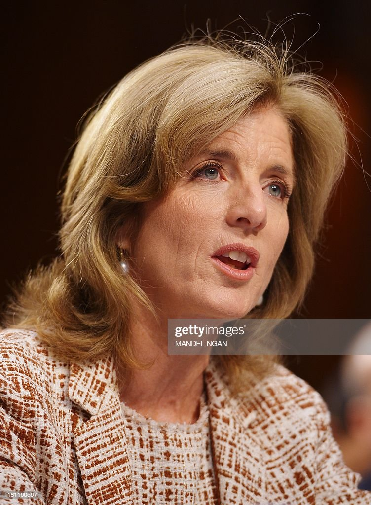 Caroline Kennedy testifies before the Senate Foreign Relations Committee on her nomination to be ambassador to Japan in the Hart Senate Office Building on Capitol Hill in Washington, DC on September 19, 2013. If confirmed by the Senate, Kennedy, 55, the daughter of slain President John F. Kennedy, would be at the center of a U.S. relationship with one of the world's largest economies and a key ally in the Asian-Pacific region. AFP PHOTO/Mandel NGAN