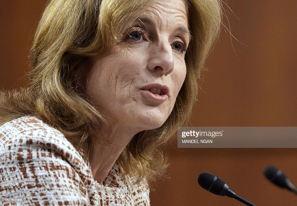 Caroline Kennedy testifies before the Senate Foreign Relations Committee on her nomination to be ambassador to Japan in the Hart Senate Office Building on Capitol Hill in Washington, DC on September 19, 2013. If confirmed by the Senate, Kennedy, 55, the daughter of slain President John F. Kennedy, would be at the center of a US relationship with one of the world's largest economies and a key ally in the Asian-Pacific region. AFP PHOTO/Mandel NGAN