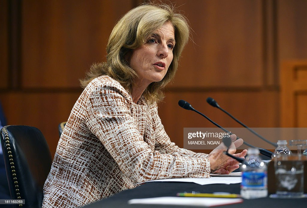 Caroline Kennedy testifies before the Senate Foreign Relations Committee on her nomination to be ambassador to Japan in the Hart Senate Office Building on Capitol Hill in Washington, DC on September 19, 2013. AFP PHOTO/Mandel NGAN