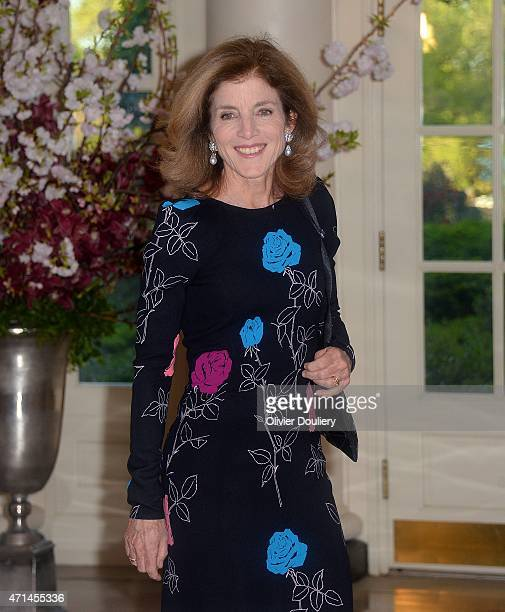 Caroline Kennedy US Ambassador to Japan arrives for the state dinner in honor of Japanese Prime Minister Shinzo Abe and wife Akie Abe April 28 2015...