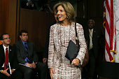 Caroline Kennedy walks into her Senate Foreign Relations Committee confirmation hearing on Capitol Hill September 19 2013 in Washington DC If...