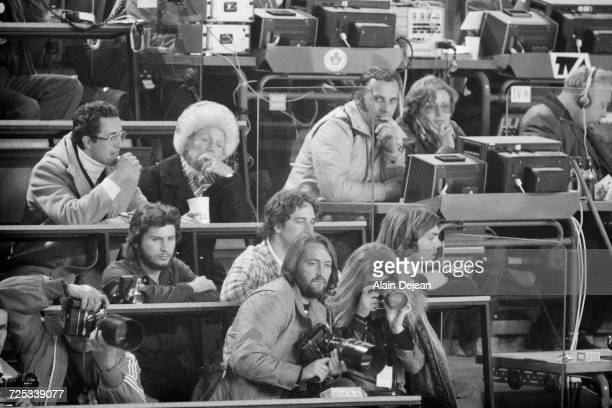 Caroline Kennedy working as a photographer's assistant at the 1976 Winter Olympics in Innsbruck Austria 9th February 1976