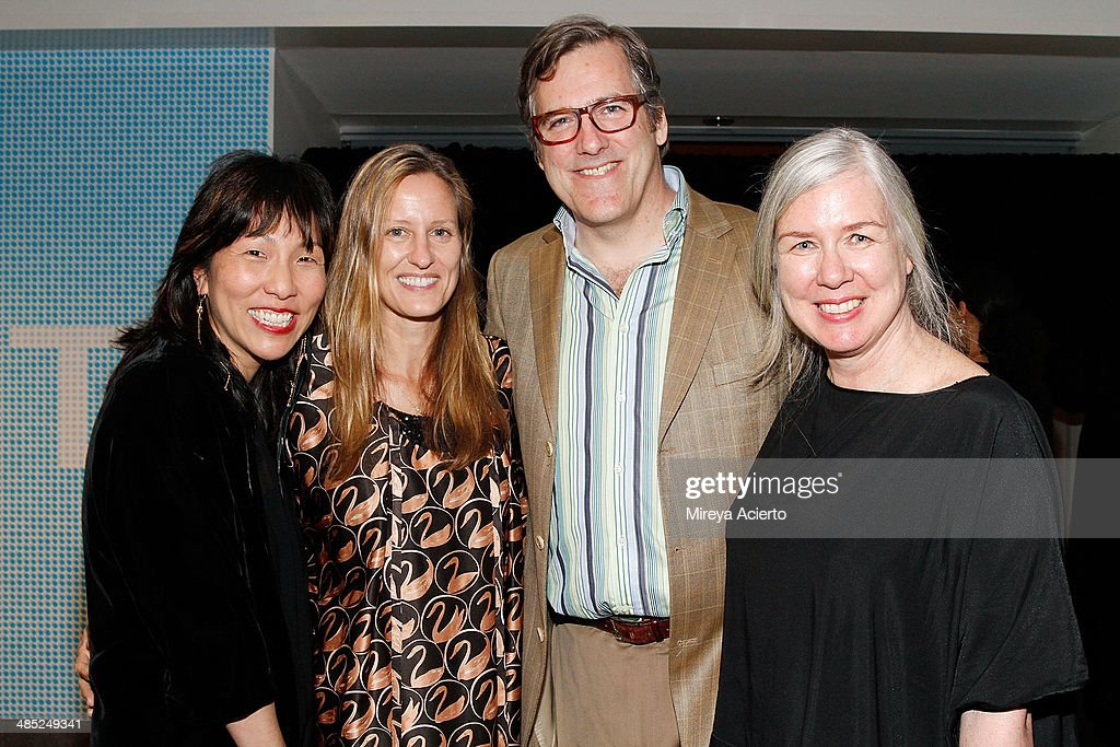 Caroline Kim, fashion editor Vicky McGarry, painter Russell Steinert and artist Janis Stemmermann attend the Brooklyn Museum's 4th annual Brooklyn Artists Ball on April 16, 2014 in the Brooklyn borough of New York City.