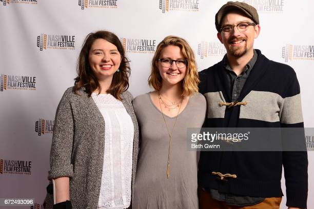 Caroline Knight Sophie Salveson and Chad McCarnon of the film 'Still Sophie' attends the 2017 Nashville Film Festival on April 24 2017 in Nashville...