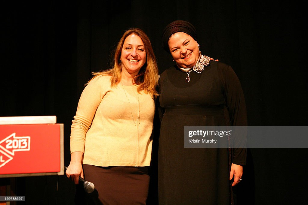Caroline Libresco and director Rama Burshtein speak onstage at the 'Fill The Void' premiere at Temple Theater during the 2013 Sundance Film Festival on January 20, 2013 in Park City, Utah.