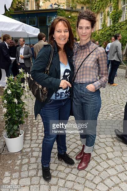 Caroline Link and actress Bibiana Beglau attend the FFF Reception during the Munich Film Festival 2013 at the Praterinsel on July 4 2013 in Munich...