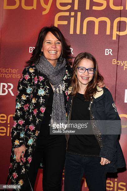Caroline Link and her daughter Pauline during the Bavarian Film Award 2015 on January 16 2015 in Munich Germany