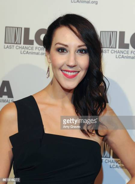 Caroline Love attends the Last Chance For Animals 33rd Annual Celebrity Benefit Gala Arrivals at The Beverly Hilton Hotel on October 14 2017 in...