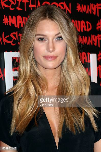 Caroline Lowe attends Maybelline New York celebrates fashion week at Dream Downtown Hotel on February 12 2016 in New York City