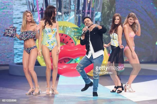 Caroline Lowe Bojana Krsmanovic Luis Fonsi Michaela Karakova and Mariana Bayon walk the runway during the Liverpool Fashion Fest Spring/Summer 2017...