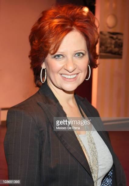 Caroline Manzo attends rehersals for 'My Big Gay Italian Wedding' at St Luke's Theater on August 26 2010 in New York City
