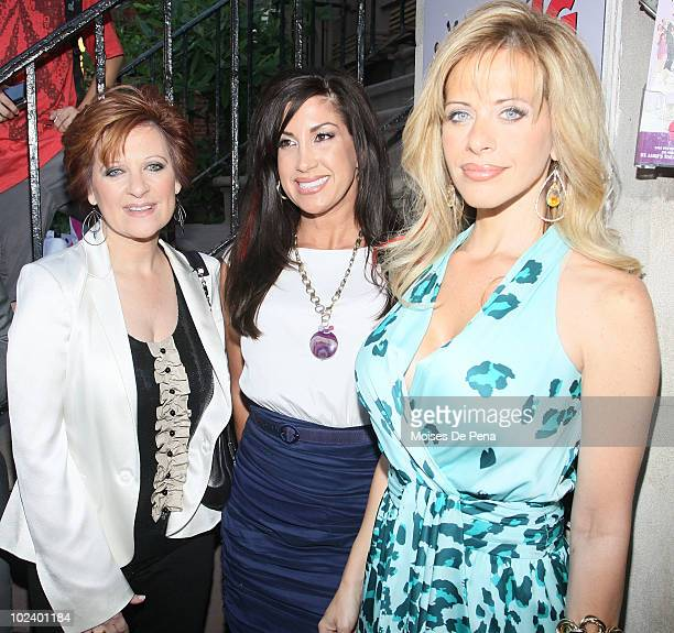 Caroline Manzo Jaqueline Laurita and Dina Manzo attend the benefit performance of 'My Big Gay Italian Wedding' to promote marriage equality at St...