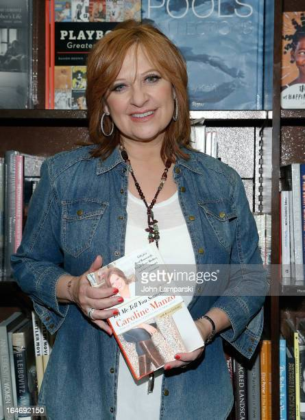 Caroline Manzo promotes 'Let Me Tell You Something Real Housewife ToughLove Mother And Smart Businesswoman' at Barnes Noble Tribeca on March 26 2013...