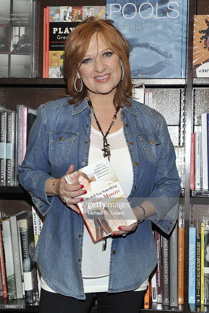 Caroline Manzo promotes the new book 'Let Me Tell You Something: Real Housewife, Tough-Love Mother And Smart Businesswoman' at Barnes & Noble Tribeca on March 26, 2013 in New York City.