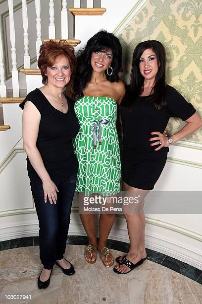 Caroline Manzo Teresa Giudice and Jacqueline Laurita attends a photo shoot on July 21 2010 in Franklin Lakes New Jersey