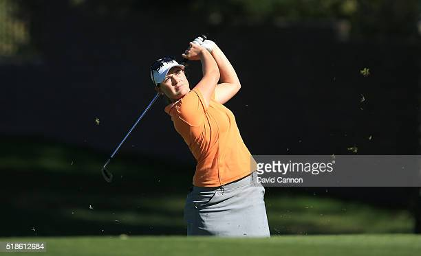 Caroline Masson of Germany plays her second shot on the par 4 12th hole during the second round of the 2016 ANA Inspiration at the Mission Hills...