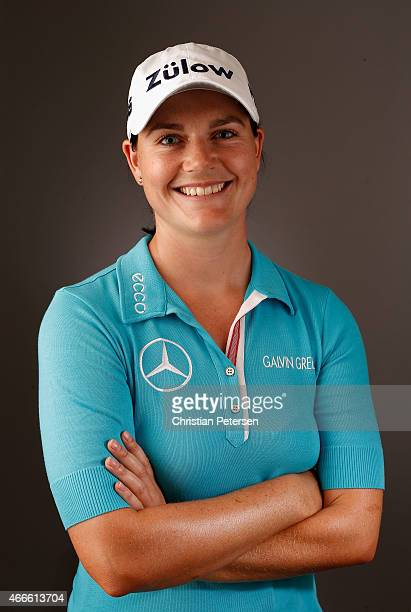 Caroline Masson of Germany poses for a portrait ahead of the LPGA Founders Cup at Wildfire Golf Club on March 17 2015 in Phoenix Arizona