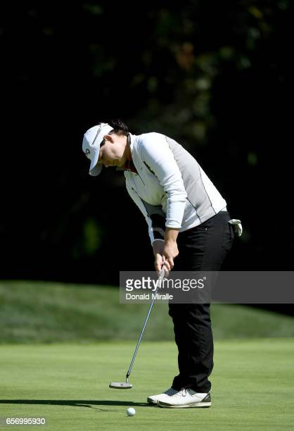 Caroline Masson of Germany putts on the 15th hole during the First Round of the KIA Classic at the Park Hyatt Aviara Resort on March 23 2017 in...