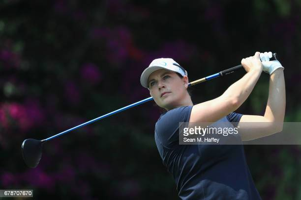 Caroline Masson of Germany tees off the sixth tee during the first round of the Citibanamex Lorena Ochoa Match Play Presented by Aeromexico and Delta...